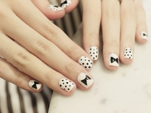 nail art68 thumb trends in manicure Stylish manicure ribbons nails art nails with ribbons nail art manicure with ribbons Luxury manicure fashion manicure