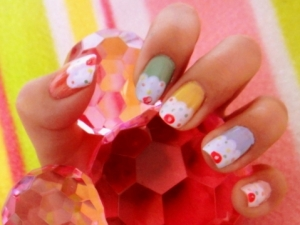 nail art73 thumb Nails with cake and cookie design! Cookie nails art design   Arent they Delicious?