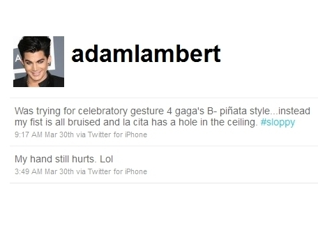 Lady Gaga Kicks Drunk Adam Lambert Out of Her Birthday Party