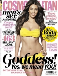 Kim Kardashian Covers Cosmopolitan UK May 2011