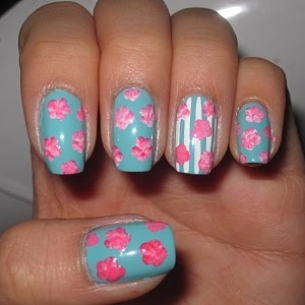 floral nails 7 thumb Modern nails art design   Latest nails manicure decoration design