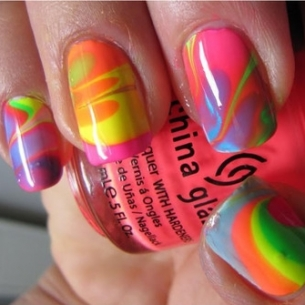 nail art 2 thumb Colorful nails art design   Nail Manicure in So different Shades
