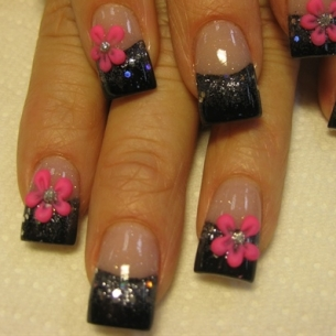 nail art floral thumb Modern nails art design   Latest nails manicure decoration design