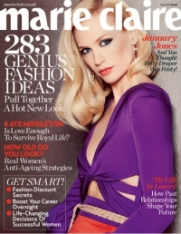 January Jones Covers Marie Claire UK May 2011