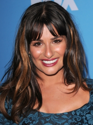 lea michele hair color. Lea Michele