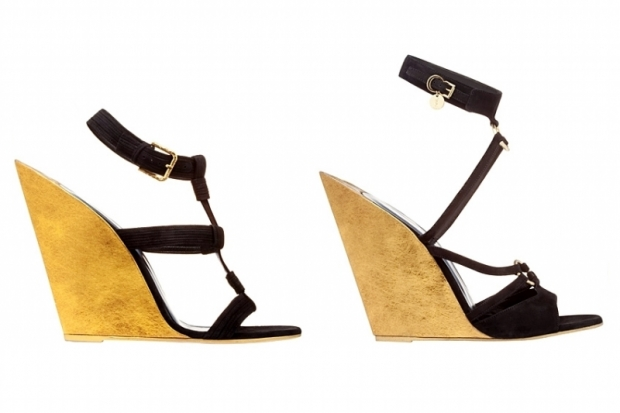 YSL Wooden Wedge Sandals Spring 2011