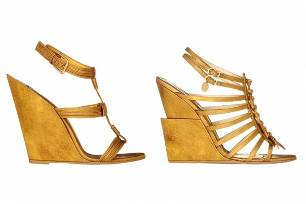 YSL Wooden Wedges 2011