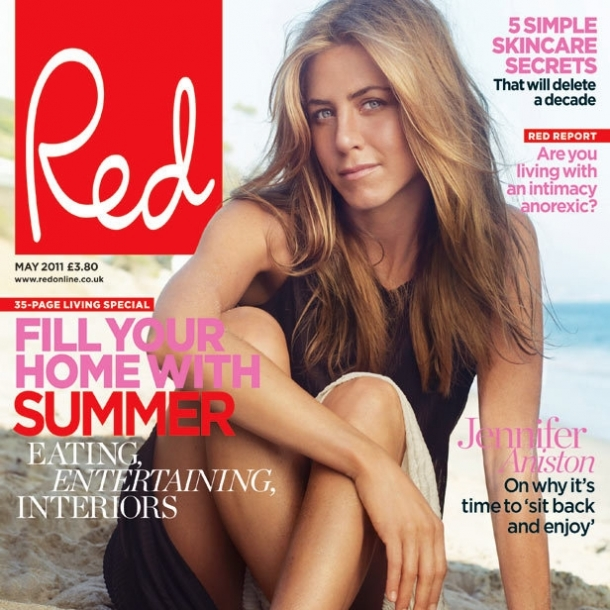 Jennifer Aniston Covers Red Magazine
