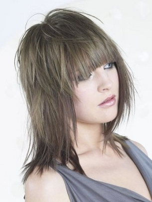 Layered Shoulder-Length Haircuts