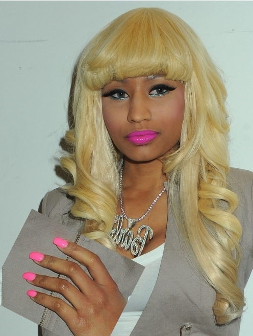 nicki minaj green. nicki minaj green nails. hairstyles nicki minaj green