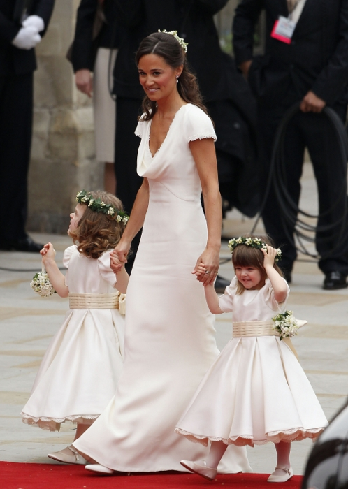 The Royal Wedding guests arriving at the Westminster Abbey dazzled with  their amazing designer dresses 15af92c4f6a