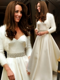 Kate Middleton Second Wedding Dress Pictures