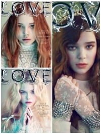 Elle Fanning, Chloe Moretz and Hailee Steinfeld for 'Love' Magazine
