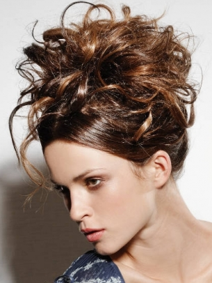 Messy Updo Hair Style