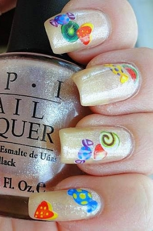 Stylish Multi Colored Nail Art Designs