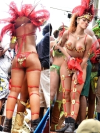 Rihanna Wears Sexy Costume to Barbados Carnival