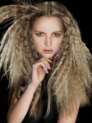 Long Crimped Hairstyle