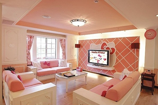 Hello kitty house in taiwan for Taiwan bedroom design
