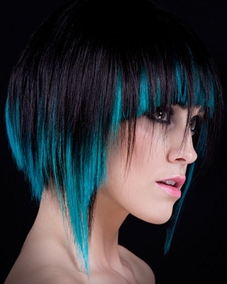 Funky Multi Tonal Hair Color Effects