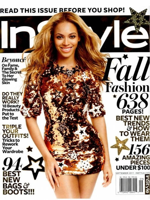 Beyoncé Covers InStyle September 2011