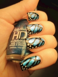 blue butterfly nails tumb wonderful polish perfect nails nails in different colors nails art design nail with butterfly wings nail art modern manicure butterfly nail art design