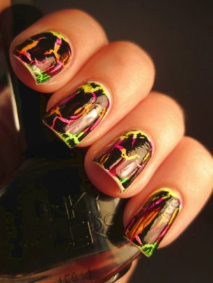 crackle nail art thumb Colorful nail art design with So Many Colors