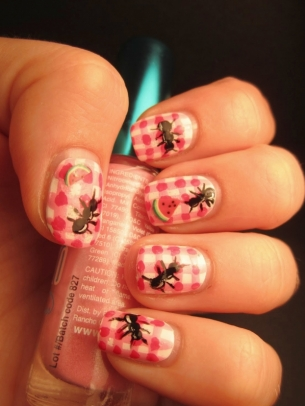 spider nail art thumb spring manicure pink nails perfect manicure perfect design modern look Fresh nail design fashion manicure decorated nails beautiful manicure amazing polish
