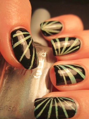 stripes nail art thumb spring manicure pink nails perfect manicure perfect design modern look Fresh nail design fashion manicure decorated nails beautiful manicure amazing polish