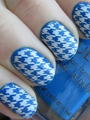 polishology nails7 thumb Stylish manicure perfect manicure new trend in manicure nails design nails art nail art manicure in blue decorated nails Blue nails design