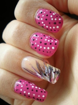 lovely nail art 4 thumb trends in manicure Stylish manicure nail polish nail art modern look decoration of manicure beautiful manicure artificial manicure Abstract nail art abstract manicure abstract design