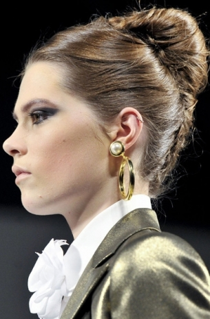 Classy French Updo with Box Accessory
