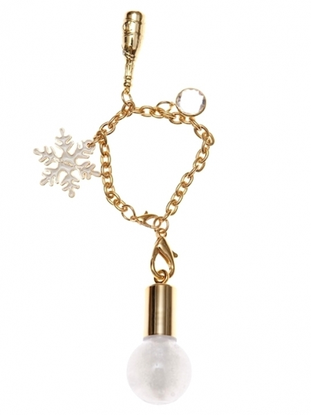 Snow Globe Charm Lip Gloss Wand