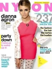 Dianna Agron Covers 'Nylon' January 2012