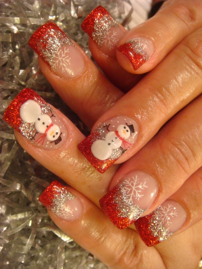 Christmas Themed Nail Art Designs