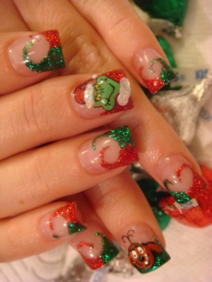 Christmas Inspired Nail Art Designs 2011