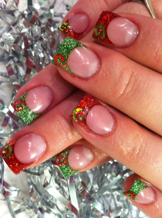 Christmas themed nail art designs christmas inspired nail art designs for 2011 prinsesfo Choice Image