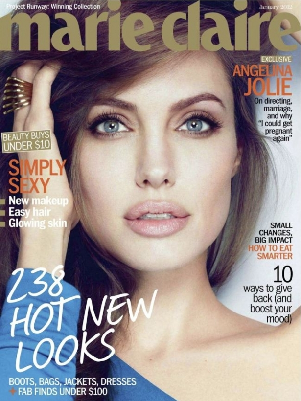 Angelina Jolie for Marie Claire US January 2012