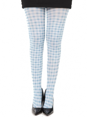Gingham Print Tights
