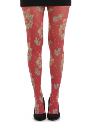 Floral Print Tights