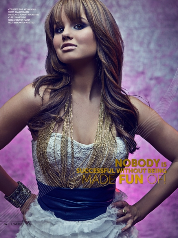 Debby Ryan Covers Glamoholic December 2011