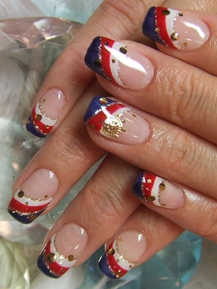 Nutical Nail Art