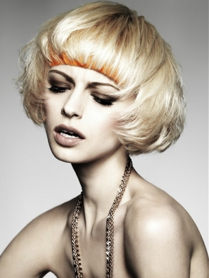 Dyed Fringe Hairstyle Trend 2012
