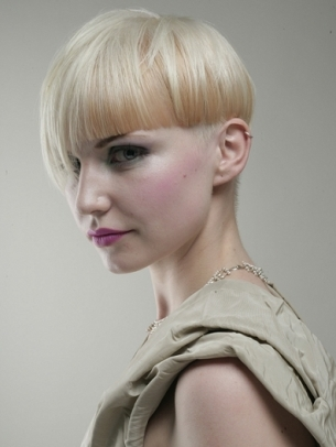Cropped Fringe on Short Hairstyle 2012
