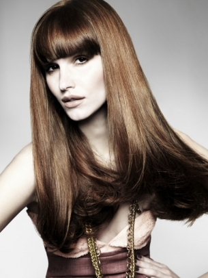 Long Blunt Fringe Hairstyle 2012