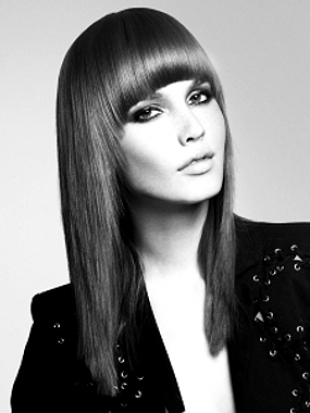 Curved Bangs Hairstyle 2012