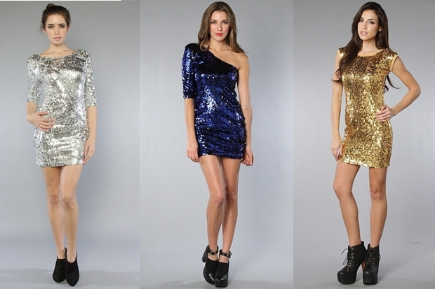 New Years Party Dresses Glitter Sequin
