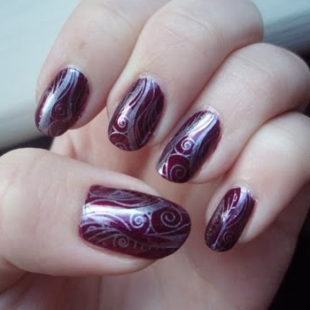 cute nails  art thumb wonderful polish Stylish manicure purple manicure modern look manicure with decorations lilac shade Lilac nail polish decorated nails beautiful manicure amazing varnish