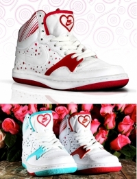 Nike Court Force High for Valentine's Day 2011