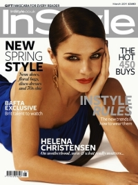 Helena Christensen Covers InStyle UK March 2011