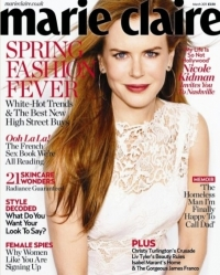 Nicole Kidman Covers Marie Claire UK March 2011